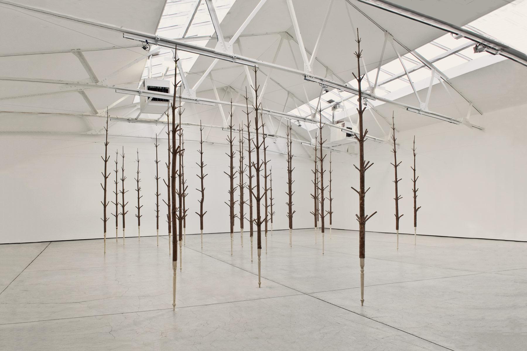 Alastair Mackie|Copse|2011|wood|tree|wood turning|sculpture
