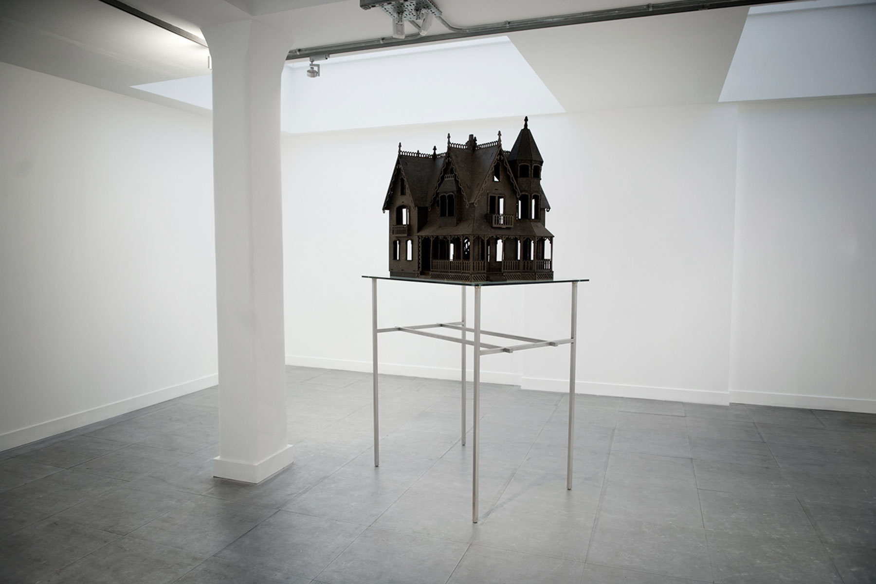 Alastair Mackie|House|2008|wasp nest|paper|dolls house|sculpture