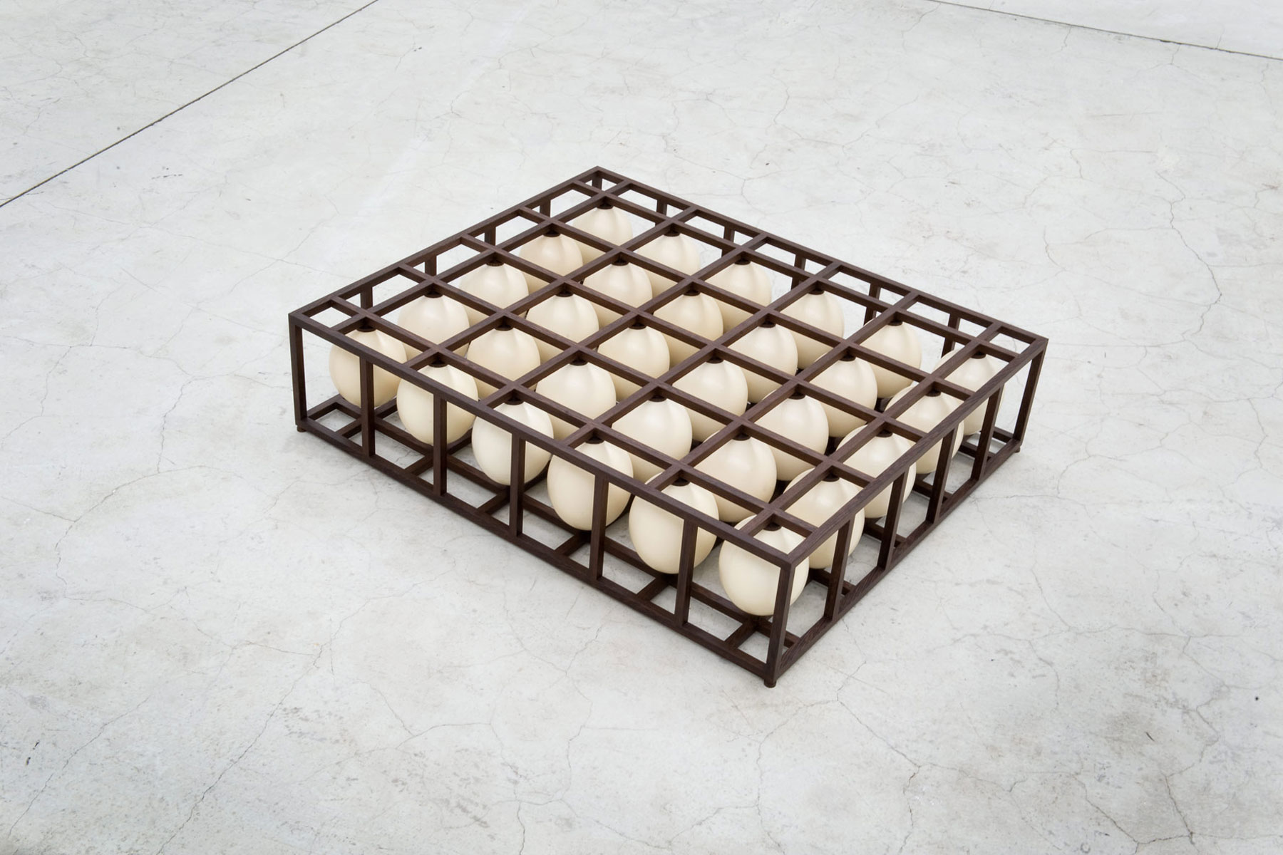 Alastair Mackie|So Linear|2011|egg|lattice|sculpture